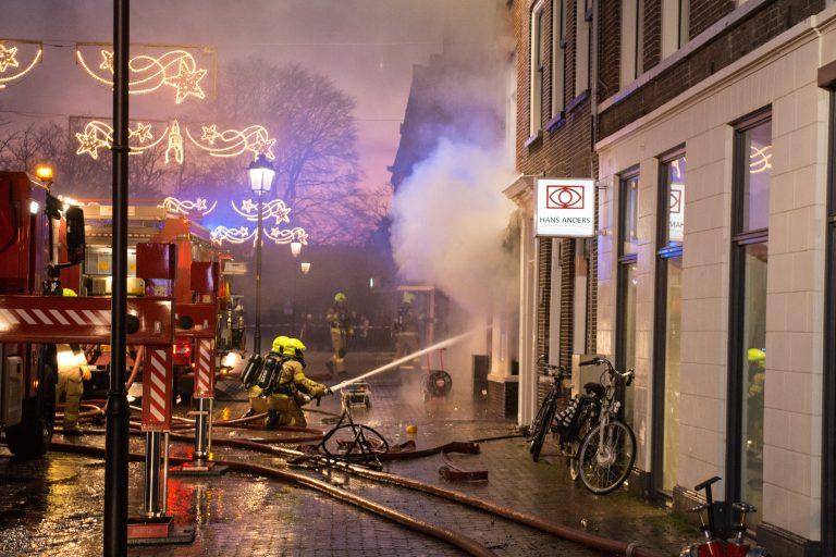 Brand vlaaienwinkel Nijkerk